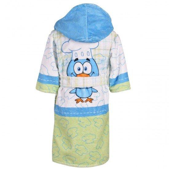 Детски халат за баня DF печат M - Готвач