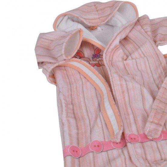 Детски халат за баня DF печат S –  Зайче