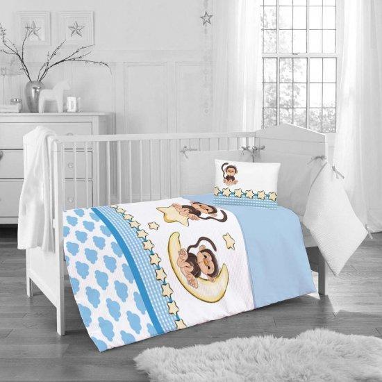Бебе спално бельо ранфорс 100/150 - Маймунка