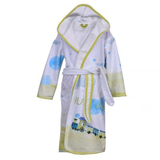Детски халат за баня DF печат L –  ПУФ-ПАФ