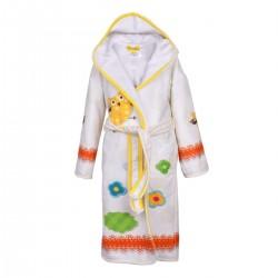 Детски халат за баня DF печат L –  Жълта Костенурка