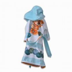 Детски халат за баня DF печат S –  Мече с Прежда