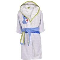 Детски халат за баня DF печат S – Огънче