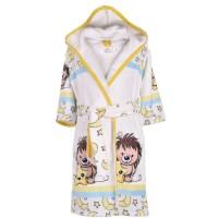 Детски халат за баня DF печат S – Сънчо