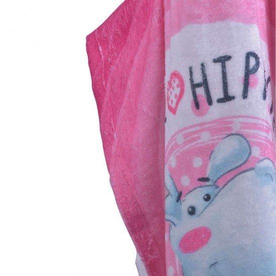 Детско пончо DF печат L - Хипо