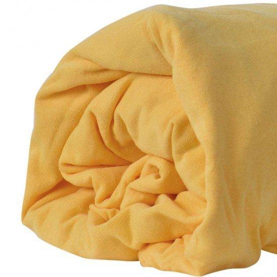 Долен чаршаф ранфорс с трико 90/200 - Жълт