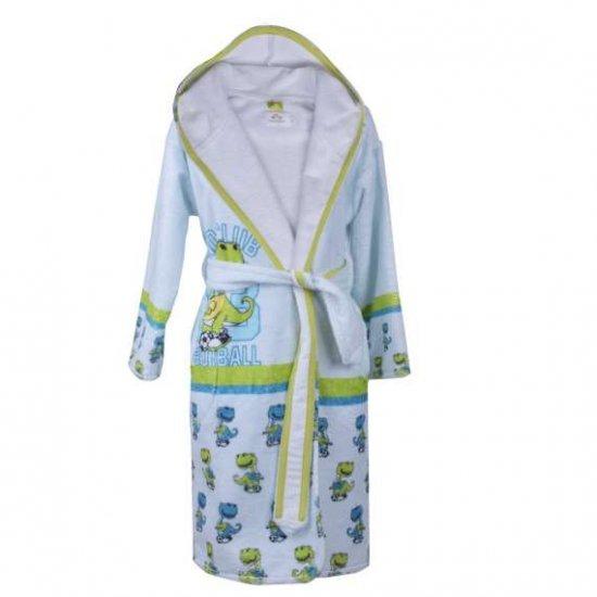 Детски халат за баня DF печат L - Дино клуб