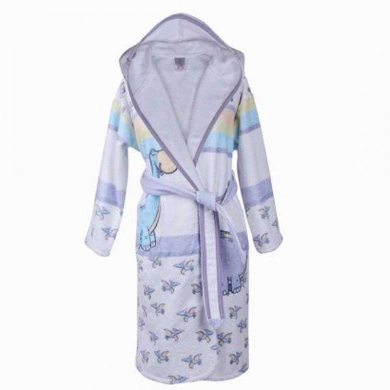 Детски халат за баня DF печат L - Динос