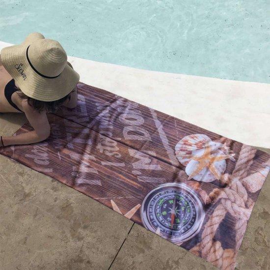 Плажна хавлиена кърпа DF печат - Компас