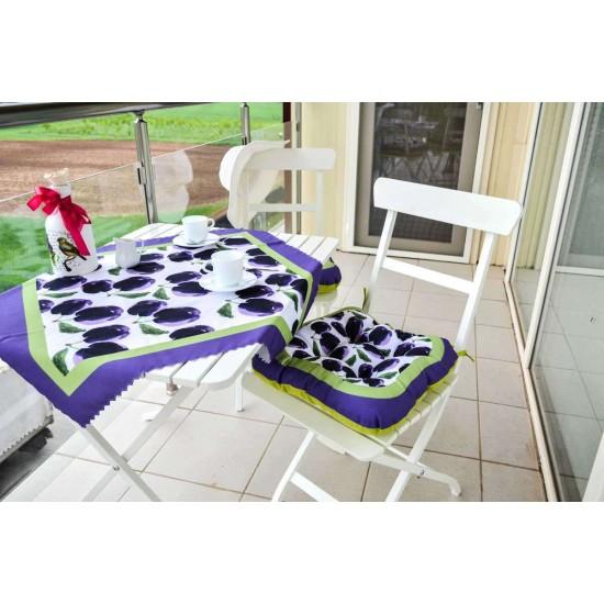 Възглавница за стол печат 45/45 - Сливи