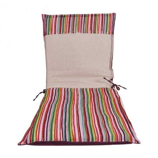 Възглавница за шезлонг с облегалка печат 190/60/5 - Цветни Черти