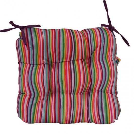 Възглавница за стол  минимат/тринити 38/38 - Цветни Черти
