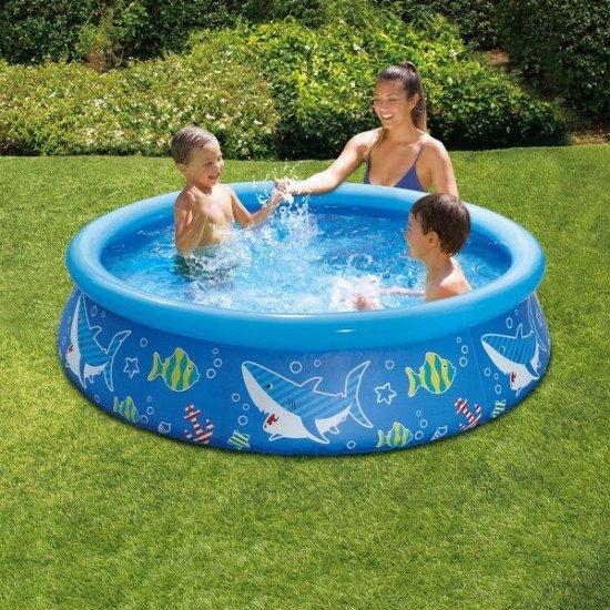 Детски басейн с надуваем борд Морско дъно 152x38см P1000515A Polygroup