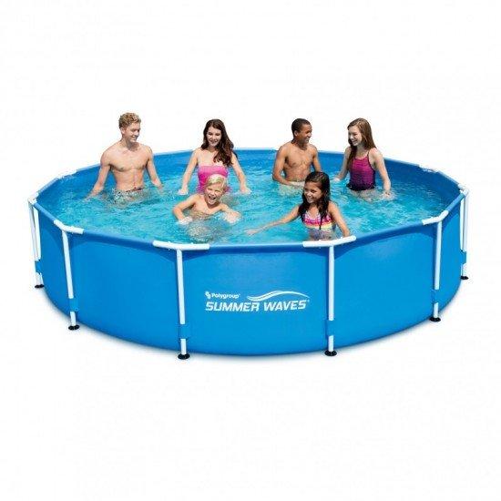 Сглобяем басейн Summer Waves с метална рамка 366x76см P2001230A Polygroup
