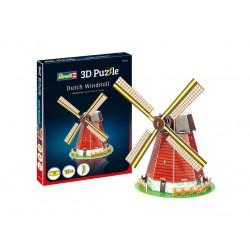 Мини пъзел 3D - Вятърна мелница