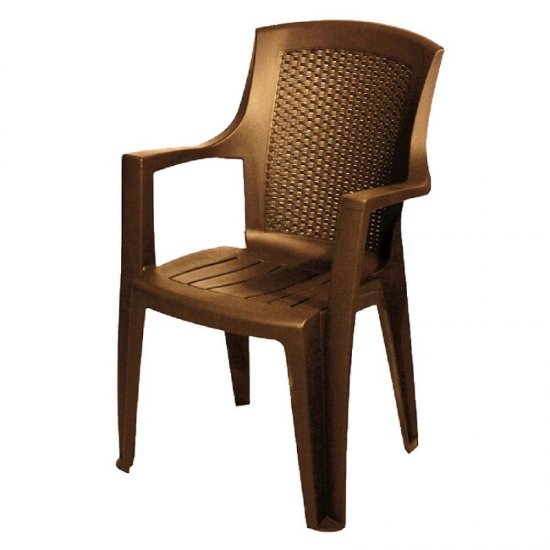 Пластмасов стол Еден кафяв
