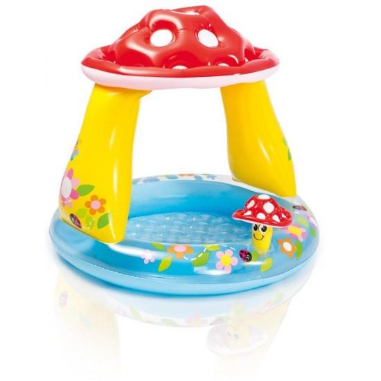 Детски надуваем басейн със сенник гъбка 102x89см 57114NP Intex