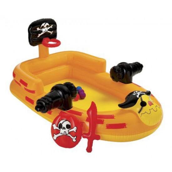 Детски надуваем Пиратски кораб с топки 48663 Intex