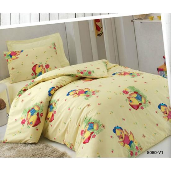 Детско спално бельо Ранфорс Пате  m9866