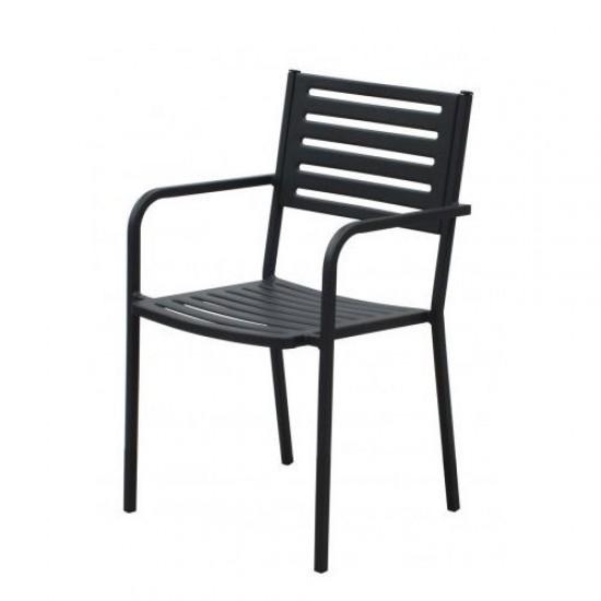 Градински стол AM C015 антрацит метал San Valente