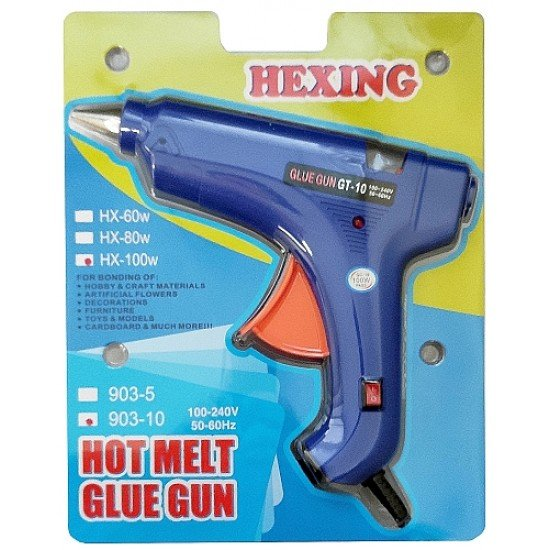 Пистолет за топло лепене със силикон 100W