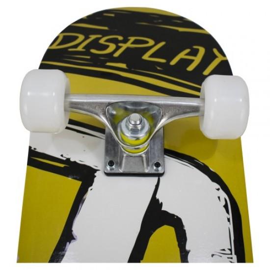 """Скейтборд - Черен с бели колела - """"D"""""""