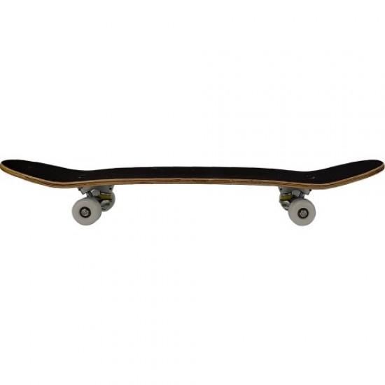 Скейтборд - Черен с бели колела - Bearded