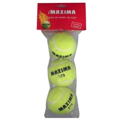 Топки за тенис на корт 3 броя MAXIMA