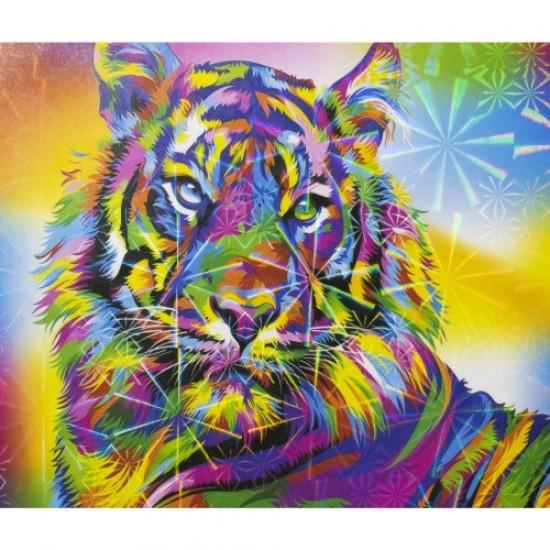 Диамантен пъзел мозайка 25х21 см - Тигър