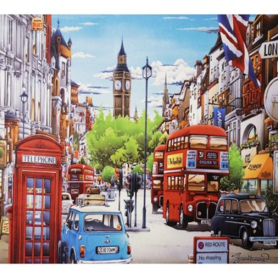 Диамантен пъзел мозайка 50х40 см - Лондон