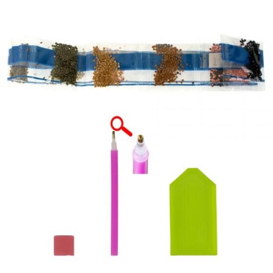 Диамантен пъзел мозайка 50х40 см - Букет