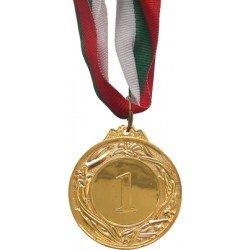 Медал 4.5см първо, второ и трето място с трикольорна лента