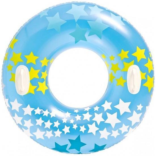 Надуваем детски пояс със звезди и дръжки 91см 59256NP Intex