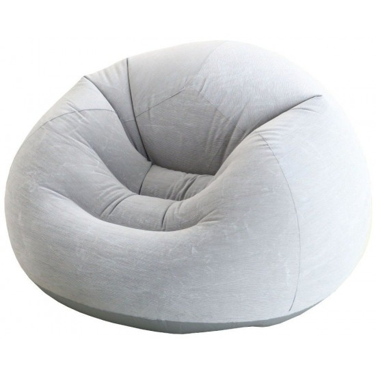 Надуваем ергономичен фотьойл INTEX Beanless Bag