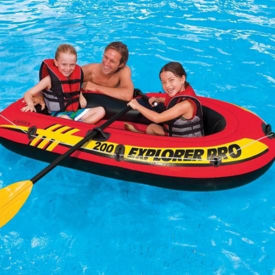 Надуваема лодка Explorer Pro 200 196х102х33см 58357NP Intex