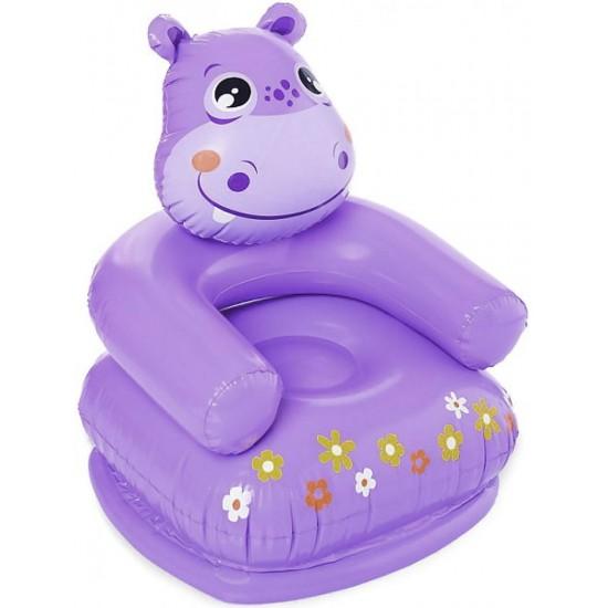 Надуваемо детско столче Intex Хипопотам
