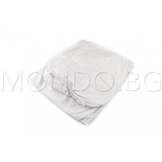 Чаршаф с ластик Ранфорс - Бял MONDO m6915