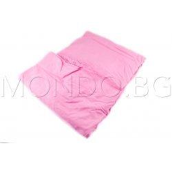 Чаршаф с ластик Ранфорс - Розов MONDO m6922