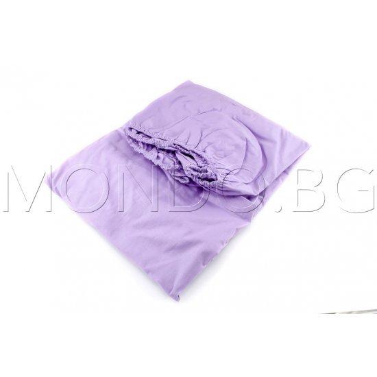 Чаршаф с ластик Ранфорс - Светло лилав MONDO m6925