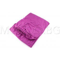 Чаршаф с ластик Ранфорс - Виолетов MONDO m6927