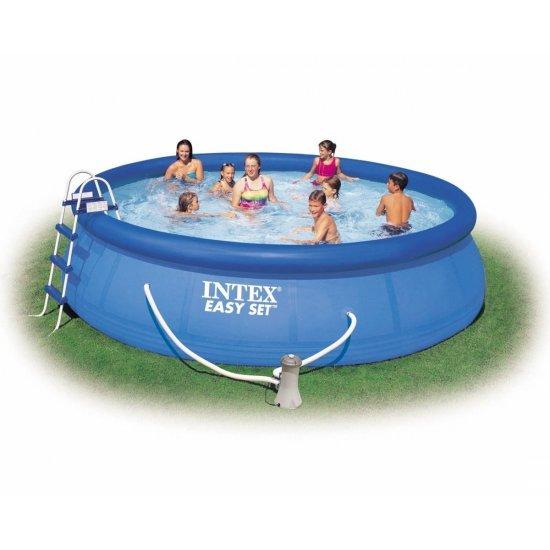 Надуваем басейн Intex Easy Set 457 см