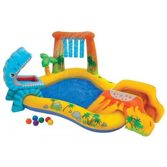 Надуваем детски център за игра Динозавър 249х191х109см 57444NP Intex