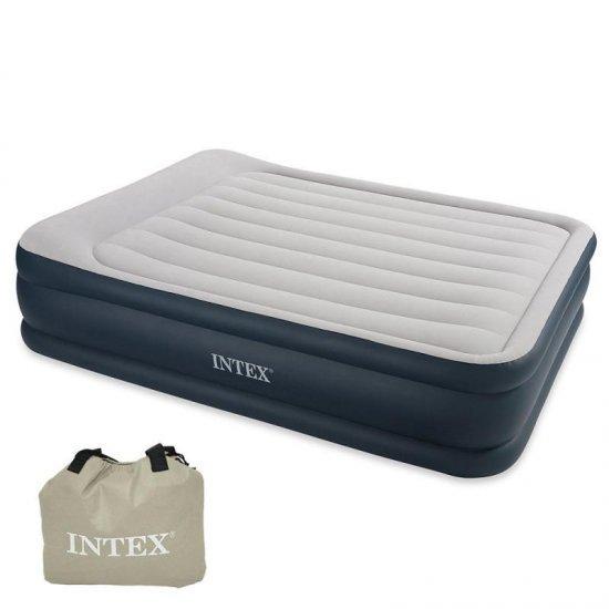 Надуваем матрак Intex Deluxe Queen 152 х 203 x 43 см