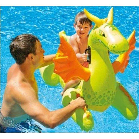 Надуваема детска играчка Intex дракон 140 x 69 см