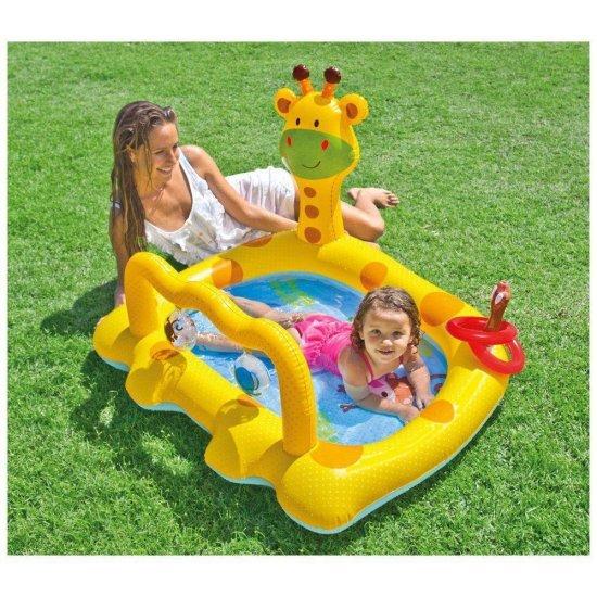 Детски надуваем басейн Веселото жирафче 112х91х72см 57105NP Intex