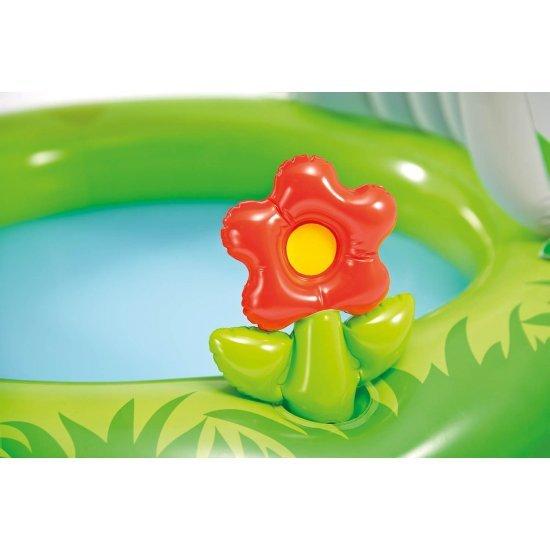 Детски надуваем басейн със сенник замък 122х122см Intex
