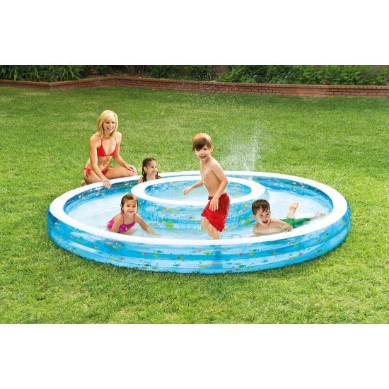 Надуваем детски басейн с мини басейнче 279x36см 57143NP Intex