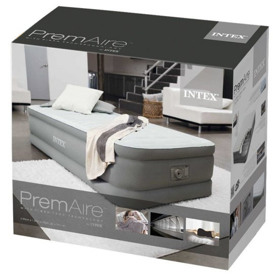 Надуваем матрак с вградена помпа INTEX Twin Premaire Elevated