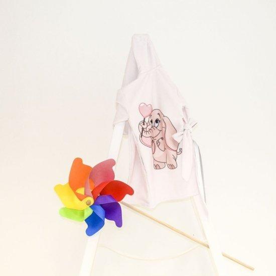 Детски халат за баня DF печат - Слонче с балон