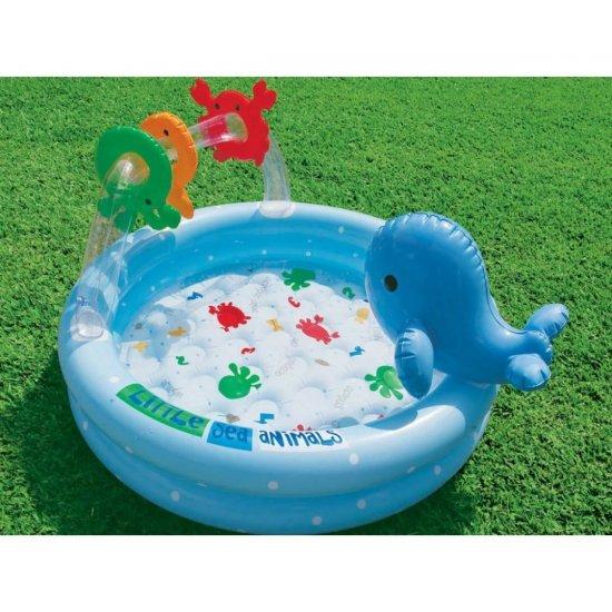 Надуваем детски басейн с делфин 90x53см 57400NP Intex